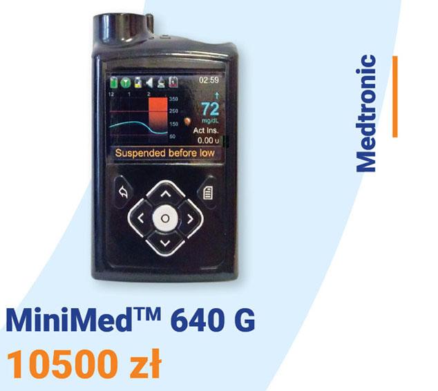 Pompa insulinowa Medtronic MiniMed 640G cena: 10500 zł